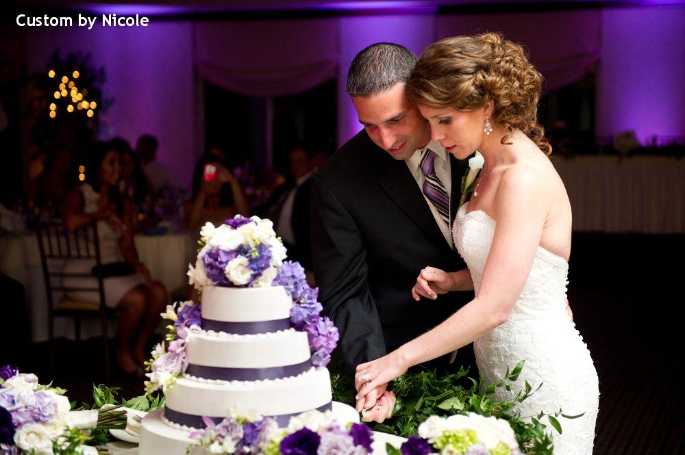 Hudson Valley Wedding DJ Bri Swatek Cake Cutting Patriot Hills Custom by Nicole