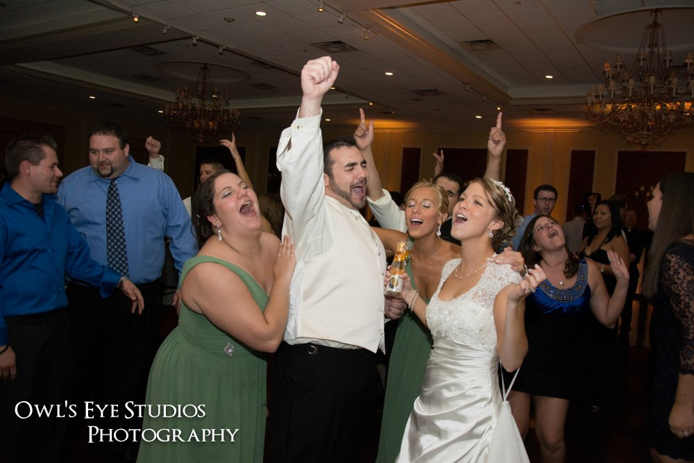 Hudson Valley Wedding DJ Bri Swatek Dance Party Bride and Groom Grandview Owl's Eye Studios