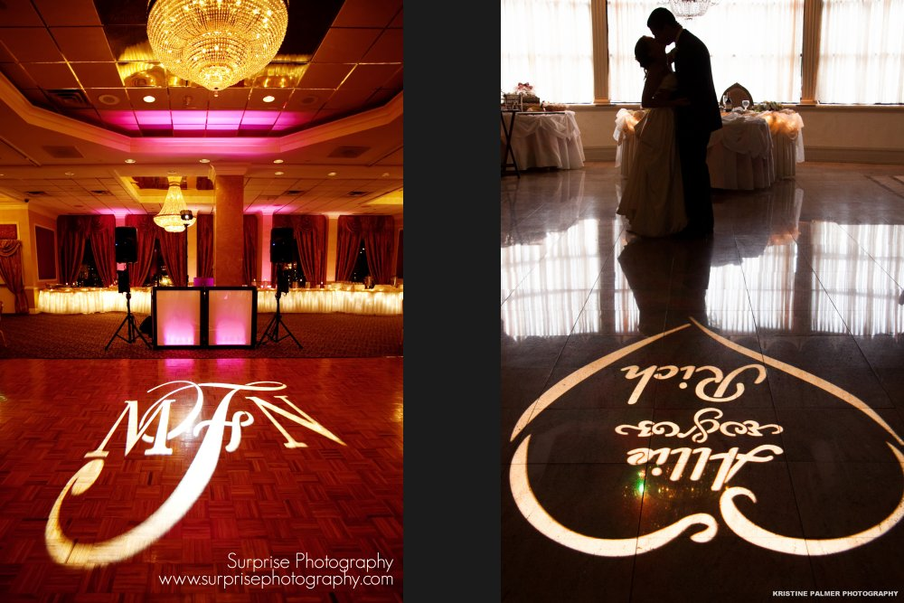 Hudson Valley Wedding DJ Bri Swatek Gobo Lighting