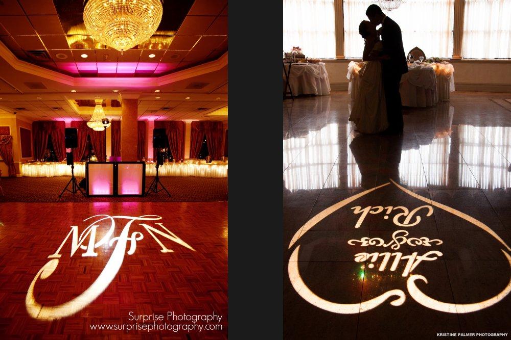 Hudson Valley Wedding DJ Bri Swatek Gobo Lighting