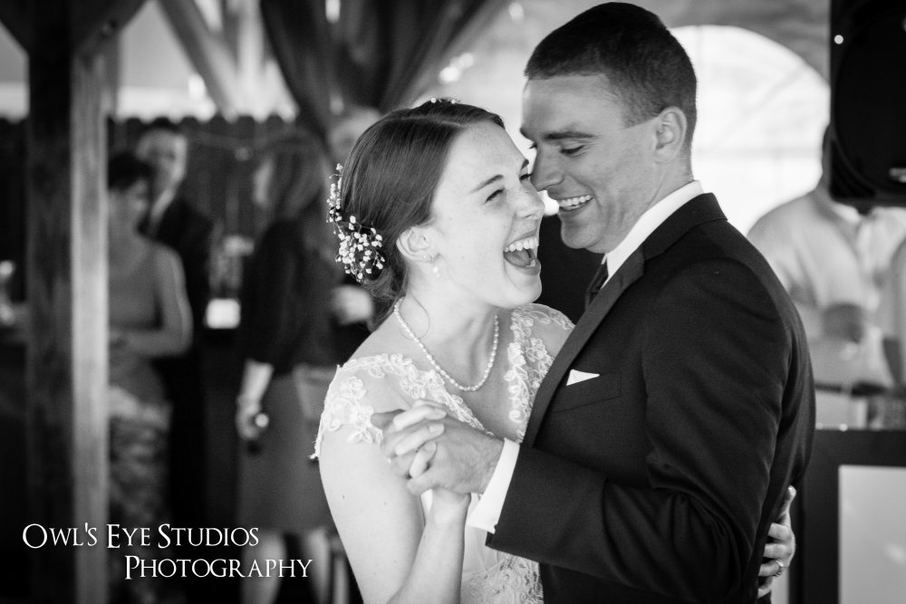 Hudson Valley Wedding First Dance at Twin Lakes DJ Bri Swatek Owl's Eye Studios Photography