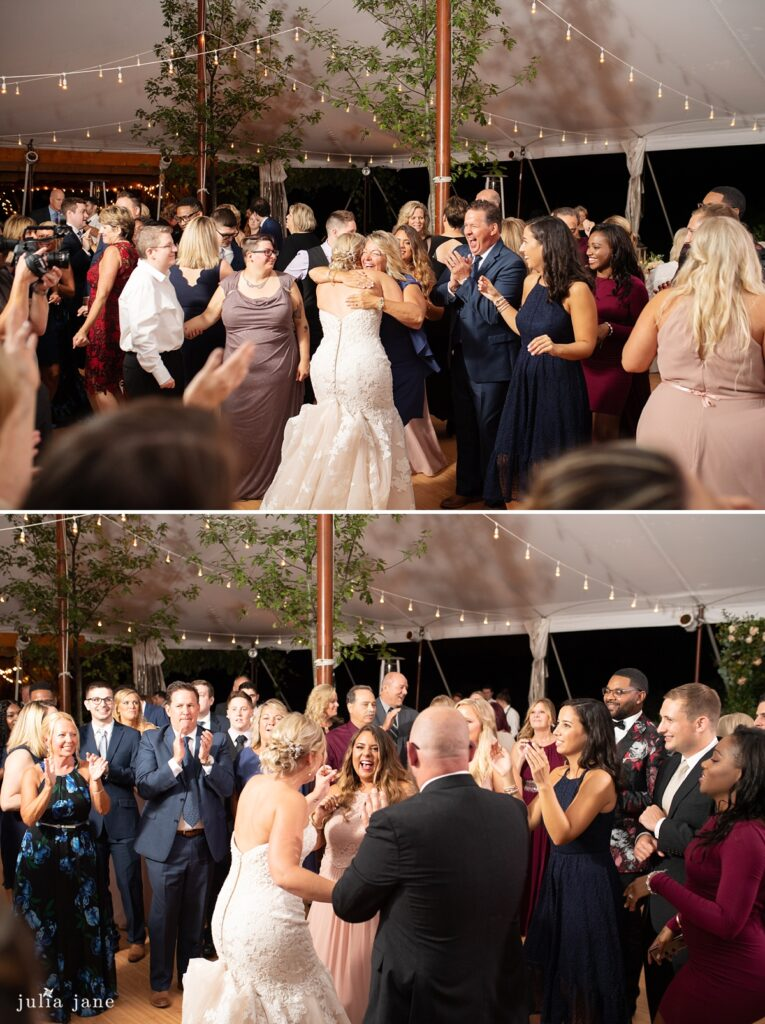 Hudson Valley Wedding DJ Bri Swatek Dance Party 1 Red Maple Vineyard Julia Jane Studios KDMM