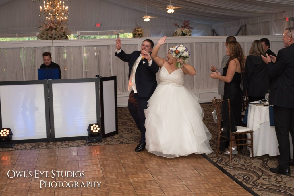 Hudson Valley Wedding DJ Bri Swatek Entrance Grandview Owls Eye Studios CBSF