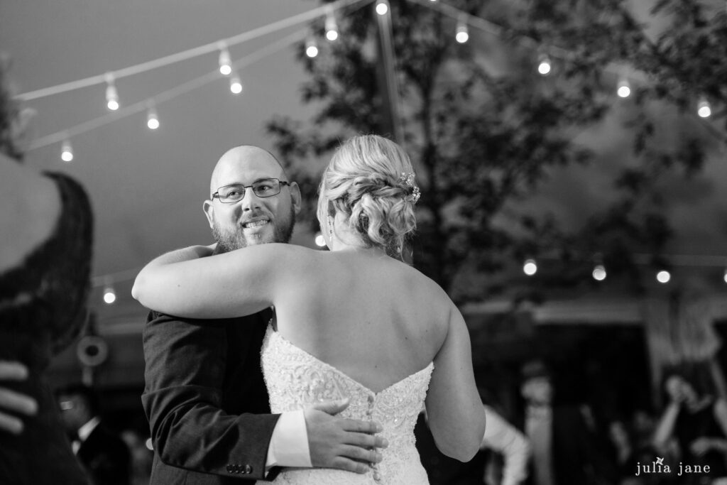 Hudson Valley Wedding DJ Bri Swatek First Dance Red Maple Vineyard Julia Jane Studios KDMM