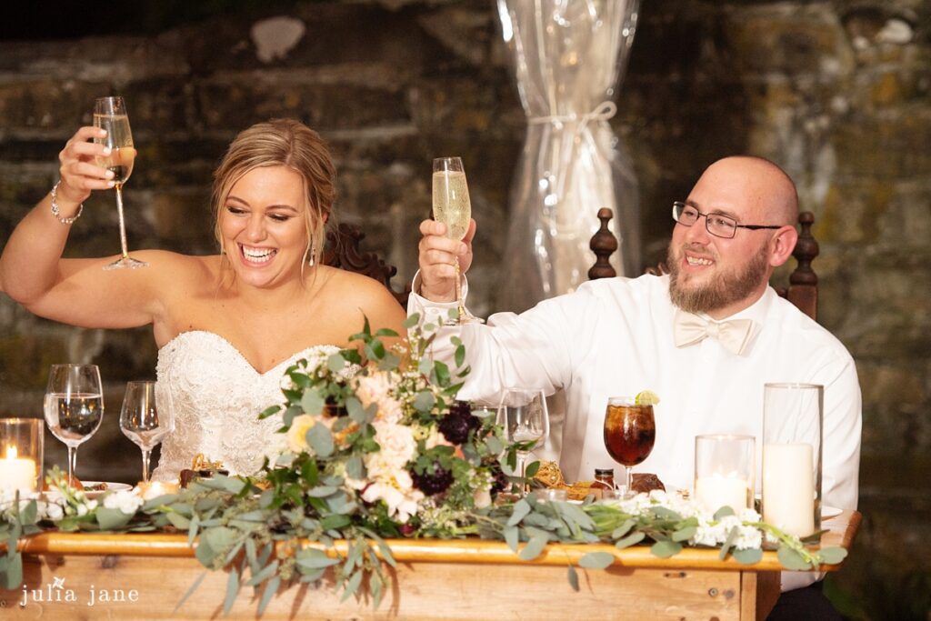 Hudson Valley Wedding DJ Bri Swatek Toast Red Maple Vineyard Julia Jane Studios KDMM