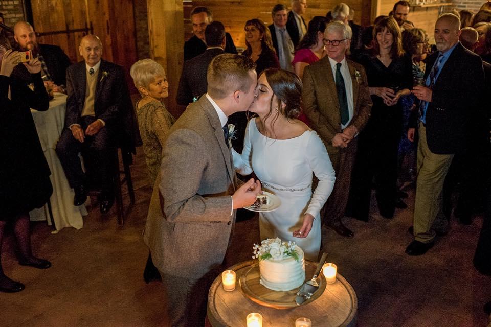 Hudson Valley Wedding DJ Bri Swatek Cake Cutting Dawn Honsky Saugerties Steamboat Co MHDK