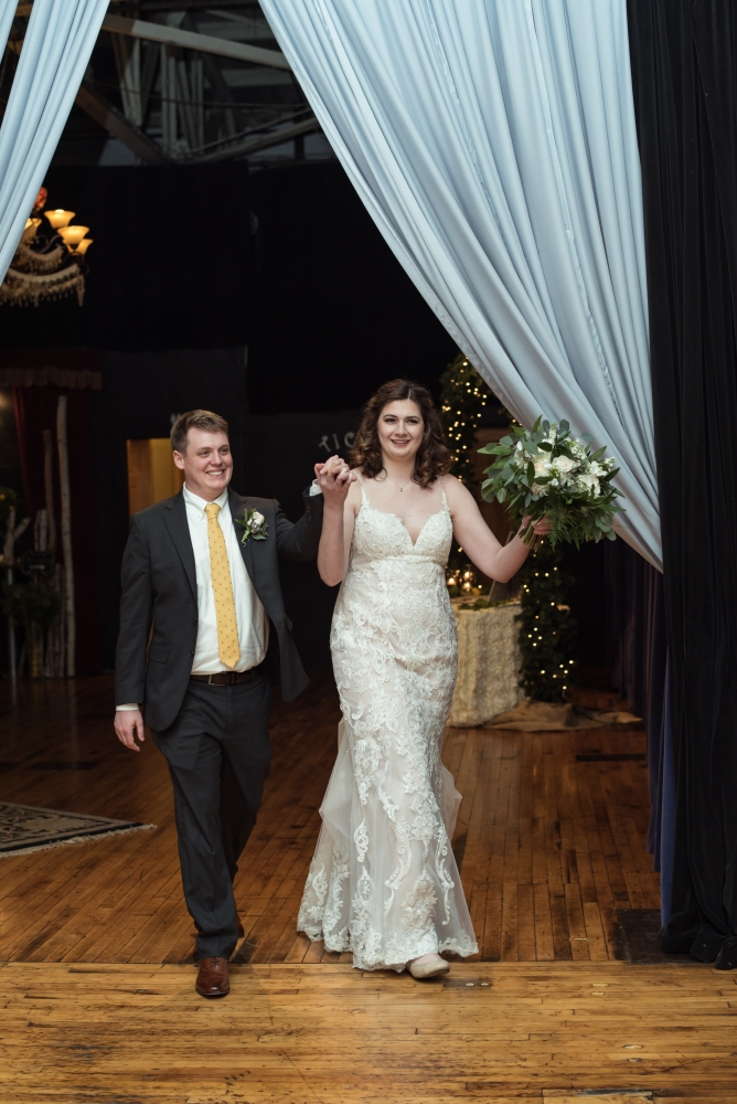 Hudson Valley Wedding DJ Bri Swatek Entrance SPAF White Poppy Weddings EMPL 1000