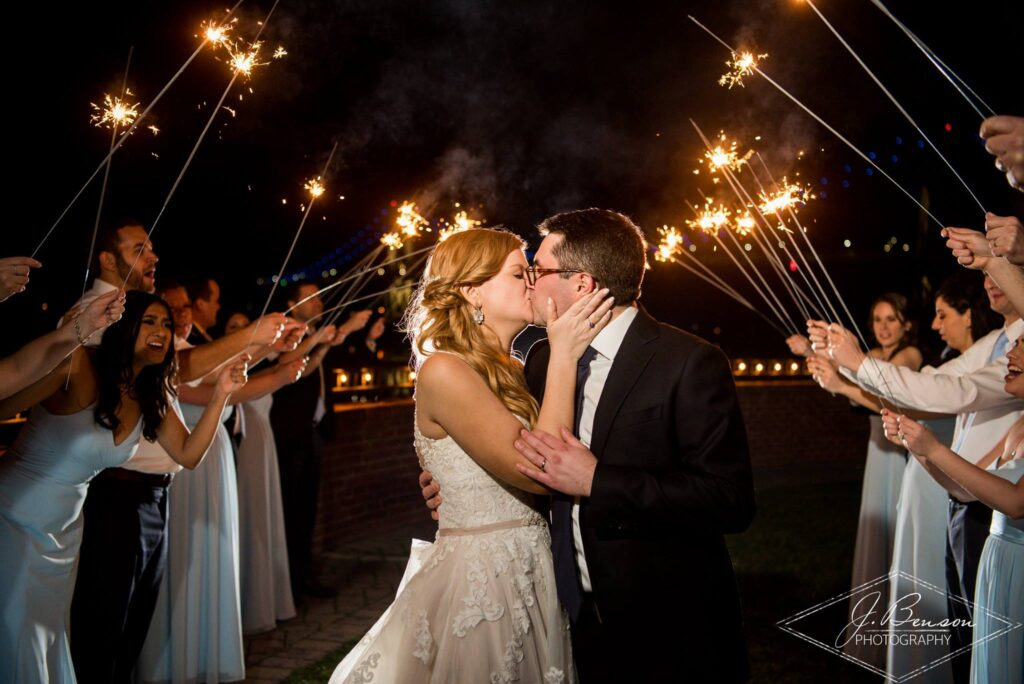 Hudson Valley Wedding DJ Bri Swatek Grandview J Benson Photography Sparkler Send Off VBRB