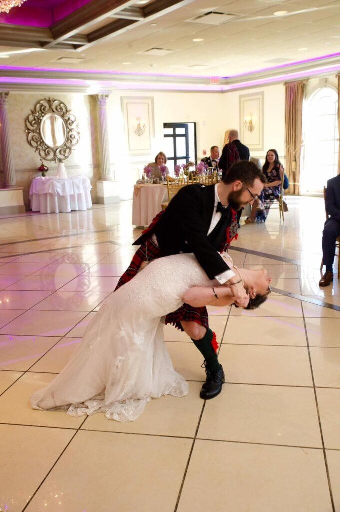 Hudson Valley Wedding DJ Bri Swatek First Dance 2 Villa Borghese Photos by Cheryl ALEM